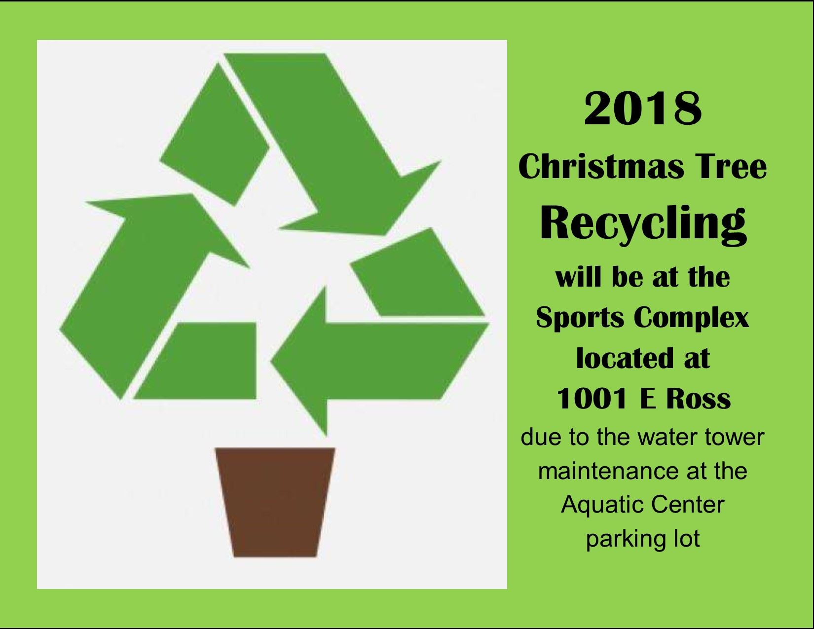 Christmas Tree Recycling 2018
